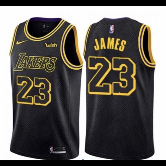 8a6bca5cc75 Nike Shirts | Lebron James Mens Medium Lakers Jersey New W Tag ...